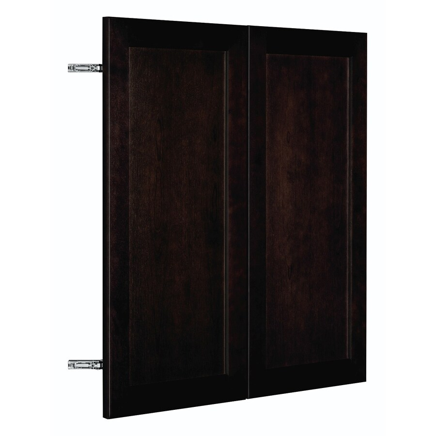 Nimble by Diamond Brownstone Beat 29.875-in W x 29.906-in H x 0.75-in D Chocolate Birch Shaker Door Wall Cabinet