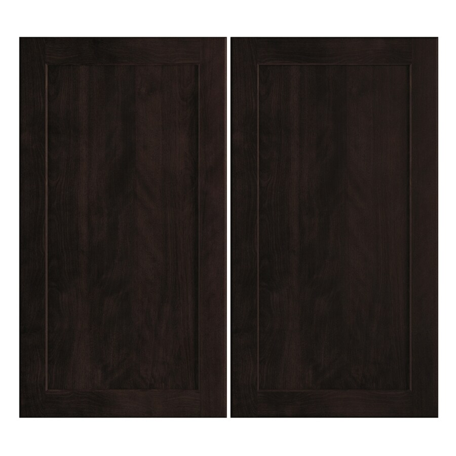 Nimble by Diamond Brownstone Beat 16.375-in W x 29.9062-in H x 0.75-in D Chocolate Shaker Door Wall Cabinet