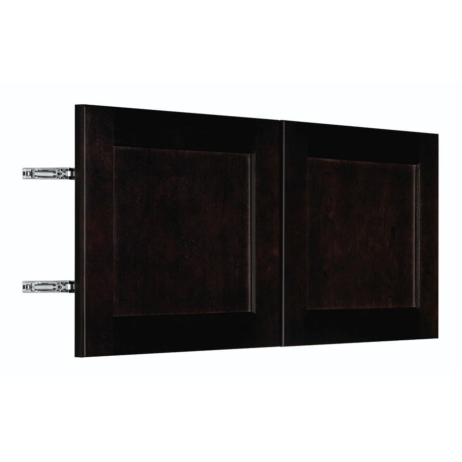 Nimble by Diamond Brownstone Beat 29.875-in W x 13.9062-in H x 0.75-in D Chocolate Birch Shaker Door Wall Cabinet