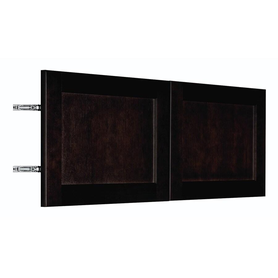 Nimble by Diamond Brownstone Beat 35.875-in W x 13.9062-in H x 0.75-in D Chocolate Birch Shaker Door Wall Cabinet