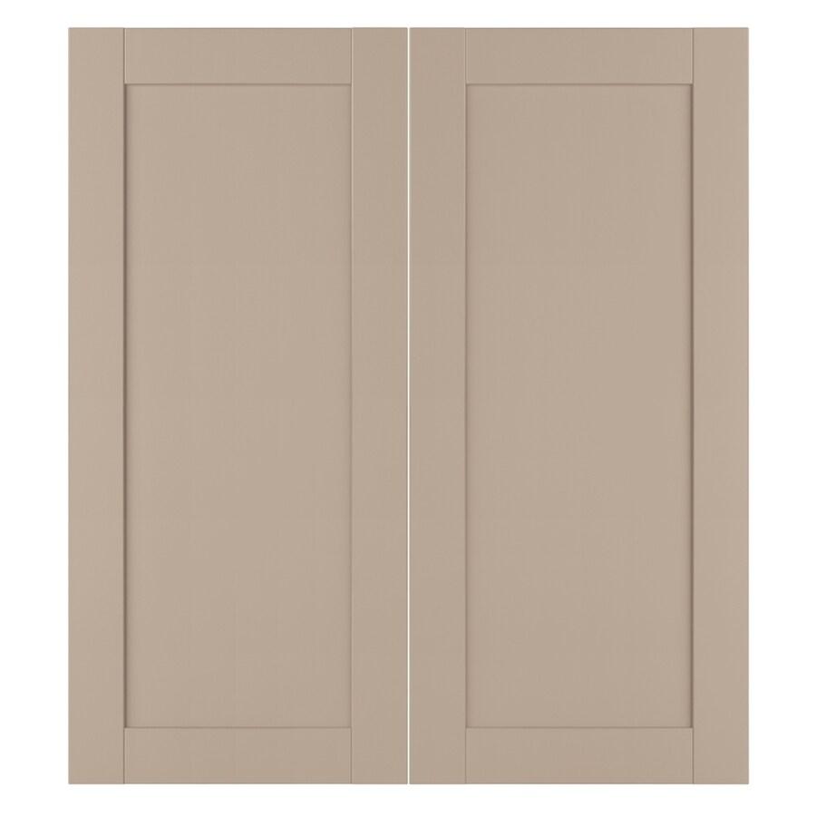Nimble by Diamond Sea Salt 13.375-in W x 29.9062-in H x 0.625-in D Cloud Laminate Shaker Door Wall Cabinet