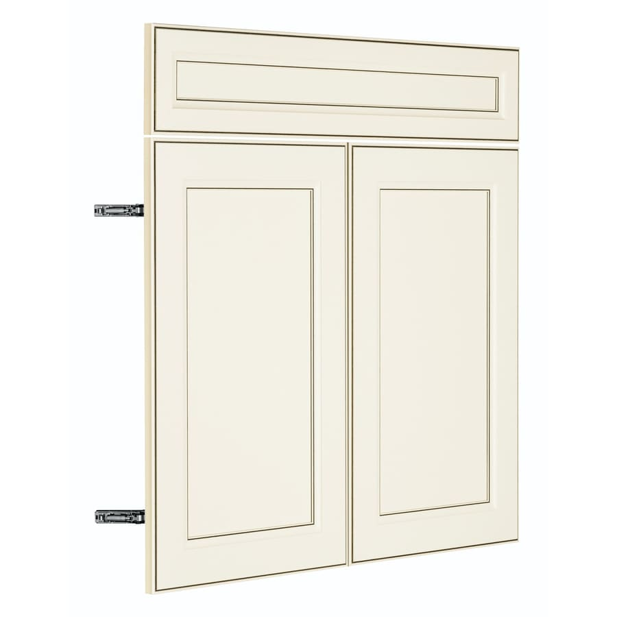 Nimble by Diamond Veranda Breeze 14.875-in W x 23.9062-in H x 0.625-in D Toasted Antique TrueColor Door and Drawer Base Cabinet