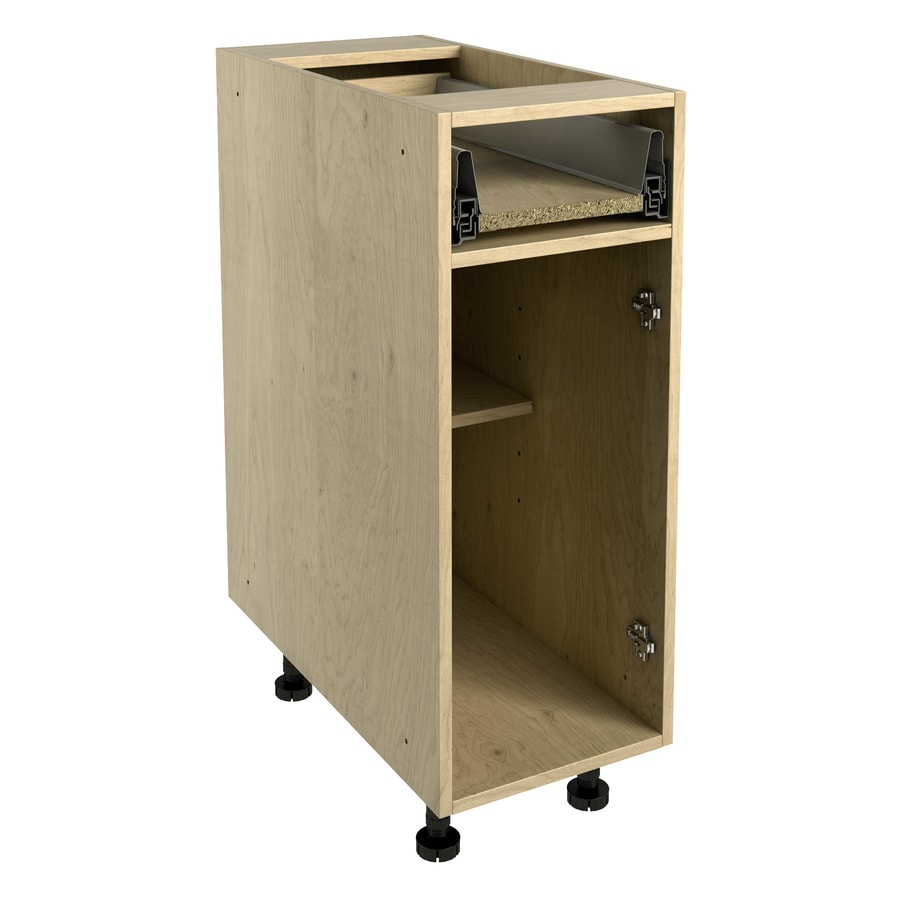 Nimble by Diamond 12-in W x 30-in H x 24-in D Natural Maple Door and Drawer Base Cabinet