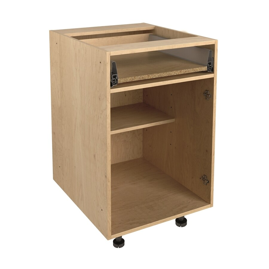 21 in w x 30 in h x 24 in d natural maple door and drawer base cabinet