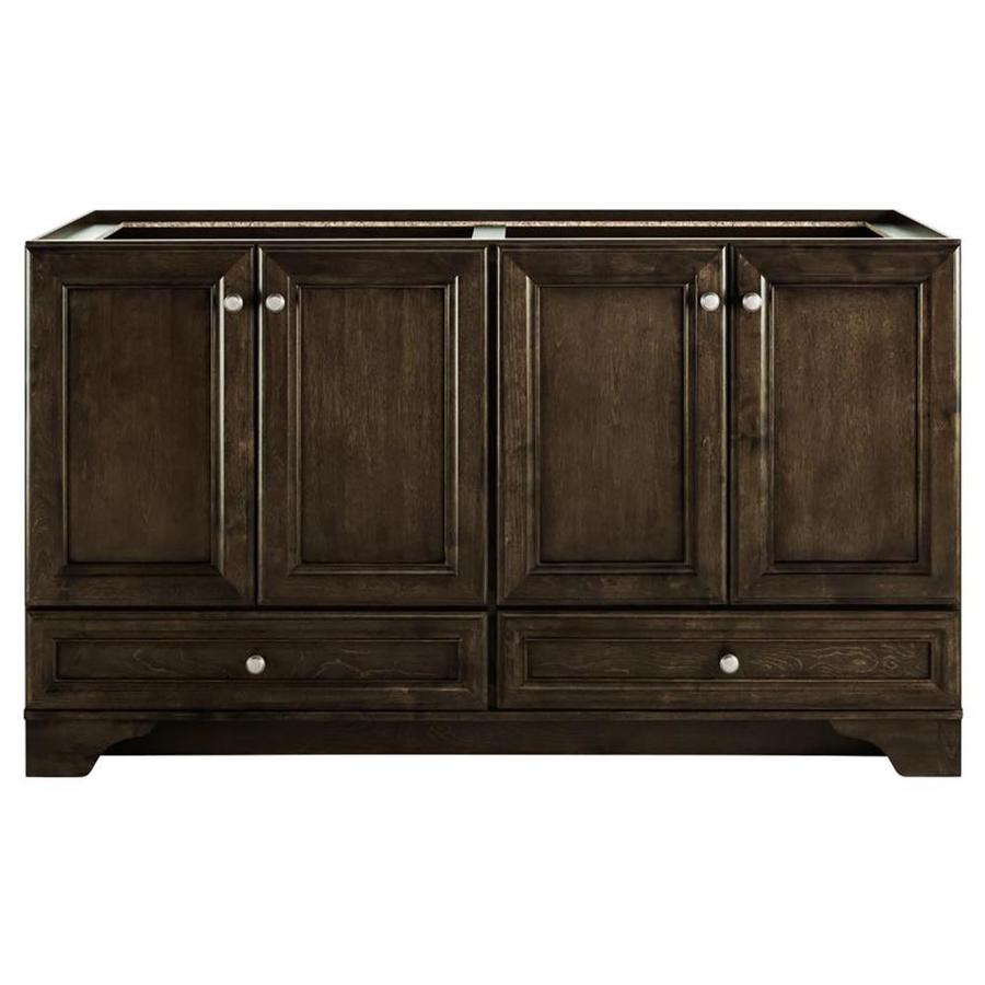 Diamond FreshFit Webster Mink Espresso Traditional Bathroom Vanity (Common: 60-in x 21-in; Actual: 60-in x 21-in)