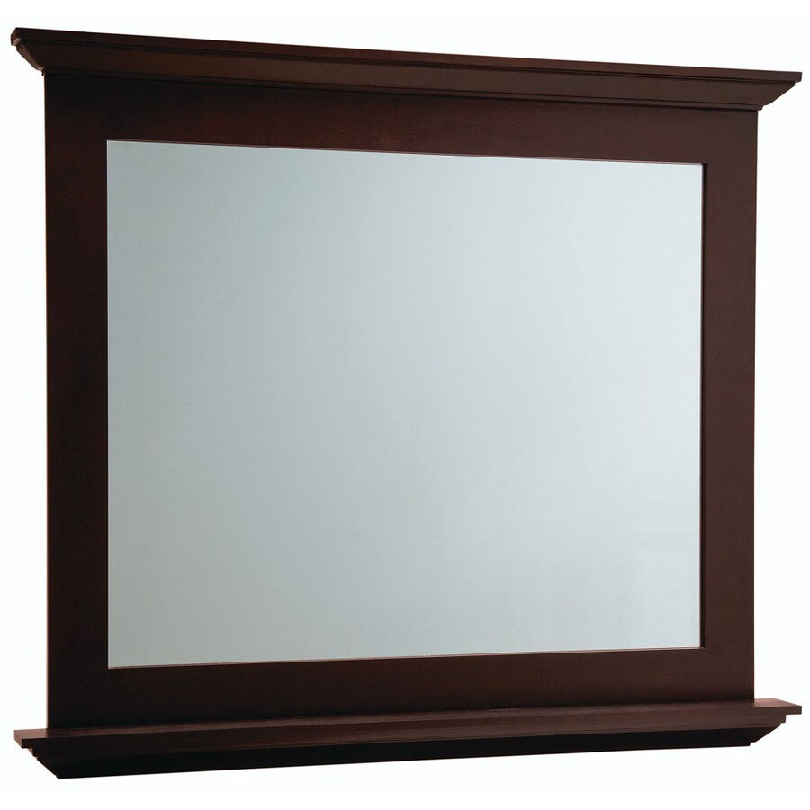 Diamond FreshFit Palencia 42-in W x 34-in H Espresso Rectangular Bathroom Mirror