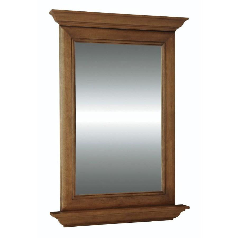 Diamond FreshFit Ballantyne 25-in W x 34-in H Mocha with Ebony Glaze Rectangular Bathroom Mirror