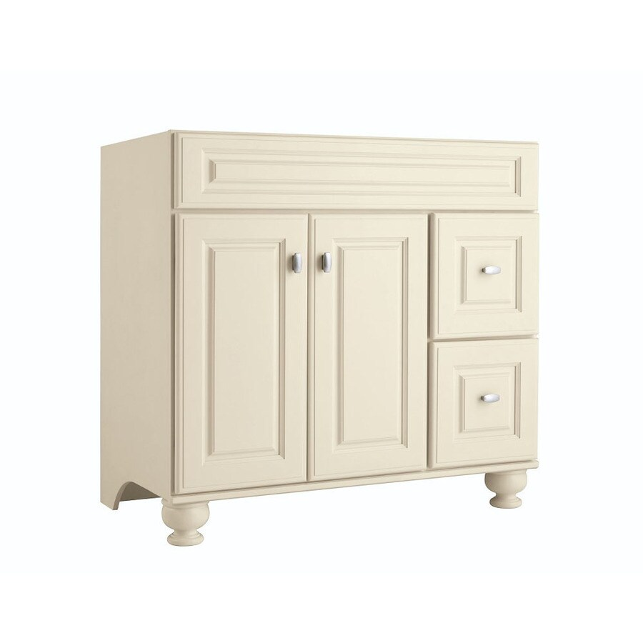 Shop Diamond Freshfit Britwell Cream Bathroom Vanity Common 36 In X 21 In Actual 36 In X 21