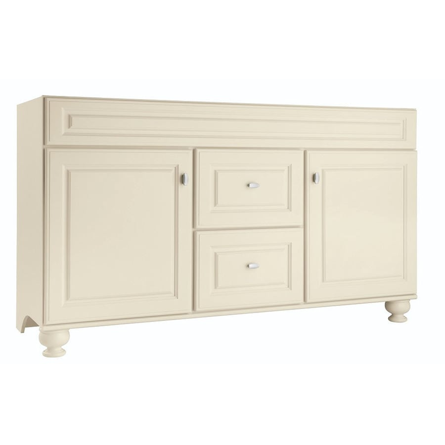 Shop Diamond Fresh Fit Britwell Cream Traditional Bathroom Vanity Common 60 In X 21 In Actual