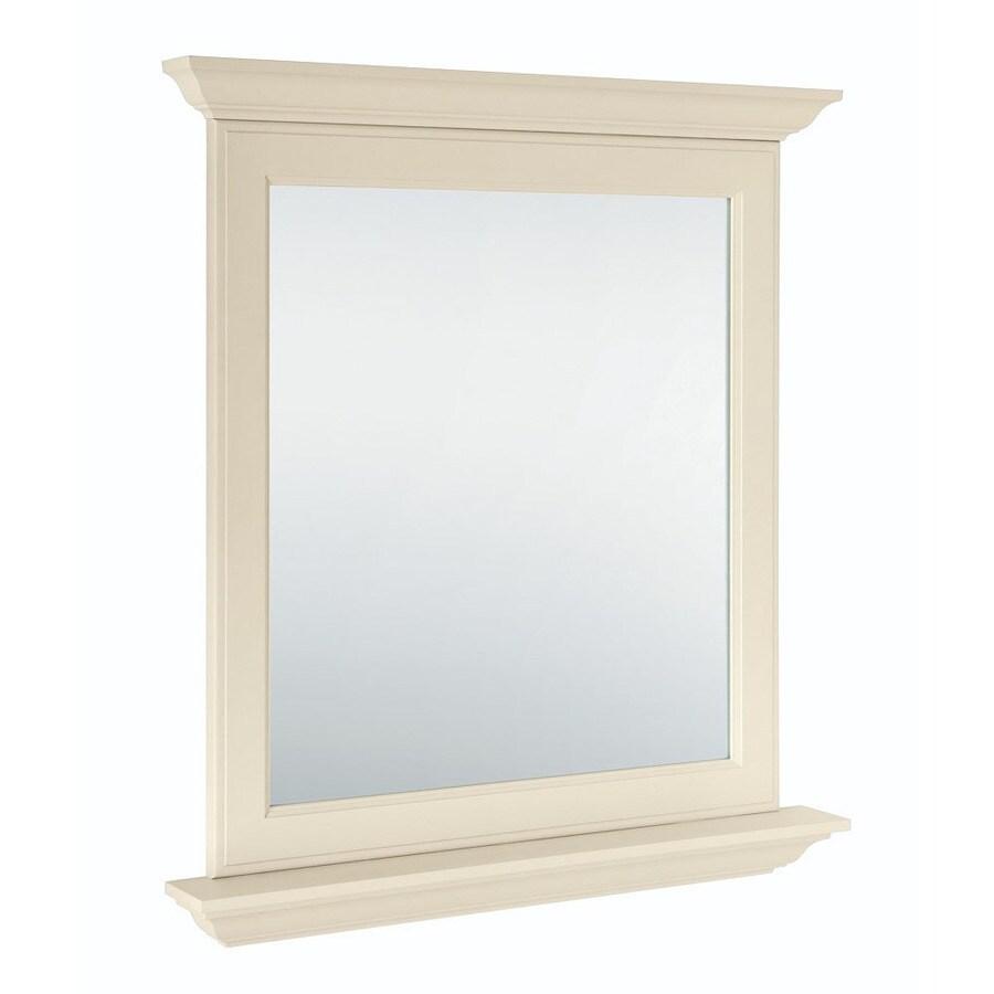 Diamond FreshFit Britwell 30-in W x 34-in H Cream Rectangular Bathroom Mirror