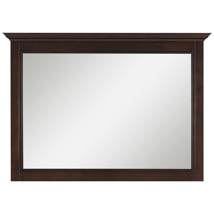 allen + roth Eastcott 42-in W x 30-in H Auburn Rectangular Bathroom Mirror