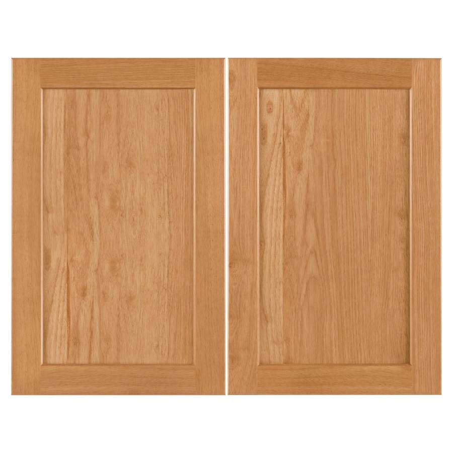 Nimble by Diamond Copper Pot 14.875-in W x 23.9062-in H x 0.75-in D Honey Shaker Door Wall Cabinet