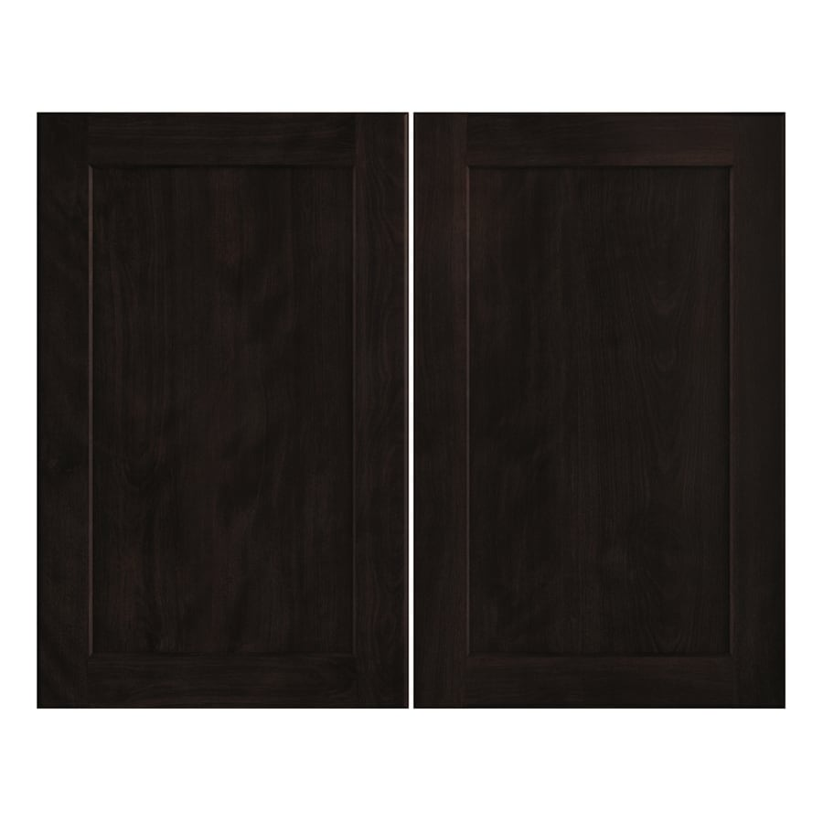 Nimble by Diamond Brownstone Beat 14.875-in W x 23.9062-in H x 0.75-in D Chocolate Shaker Door Wall Cabinet