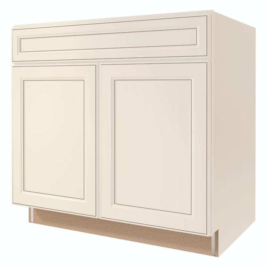 Kitchen Classics Caspian 33-in W x 35-in H x 23.75-in D Toasted Antique Sink Base Cabinet