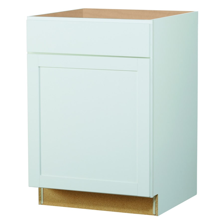 Kitchen Classics Arcadia 24-in W x 35-in H x 23.75-in D White Shaker Door and Drawer Base Cabinet