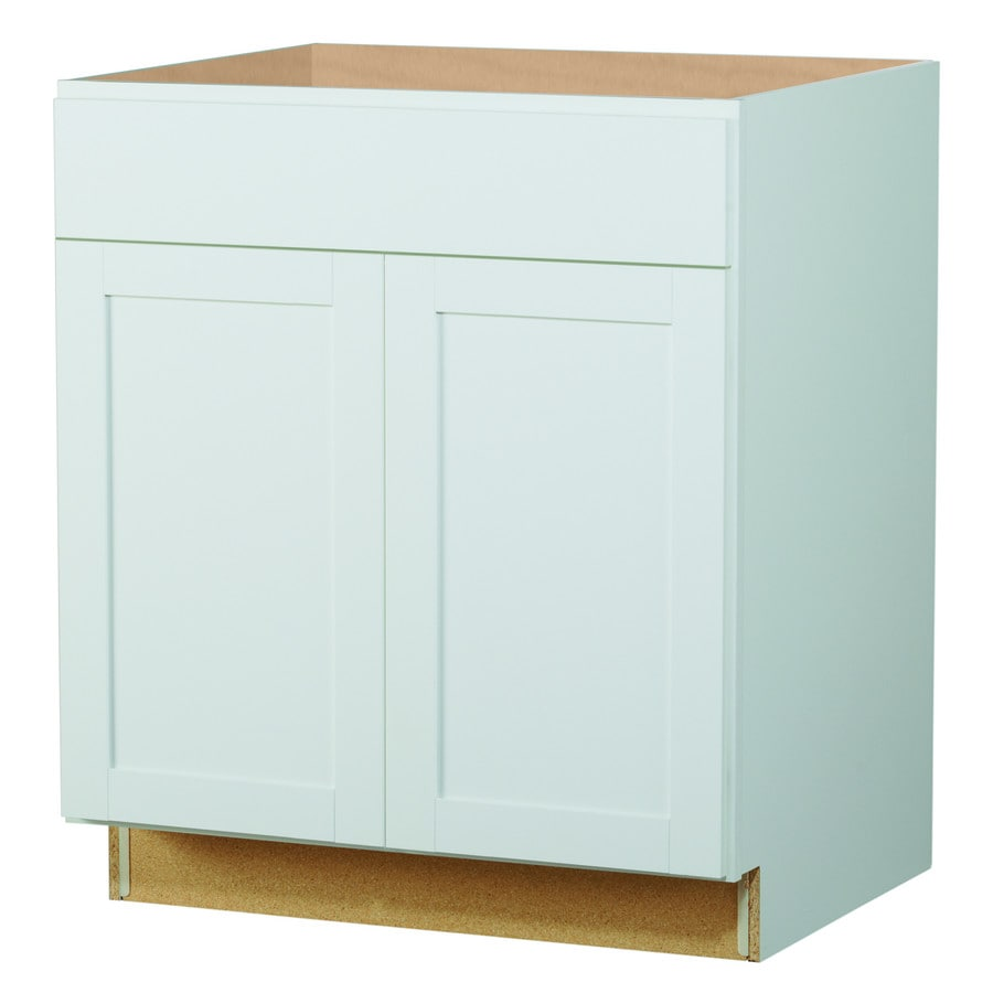 Diamond NOW Arcadia 5-in W x 5-in H x 5.5-in D Truecolor White Door and  Drawer Base Stock Cabinet