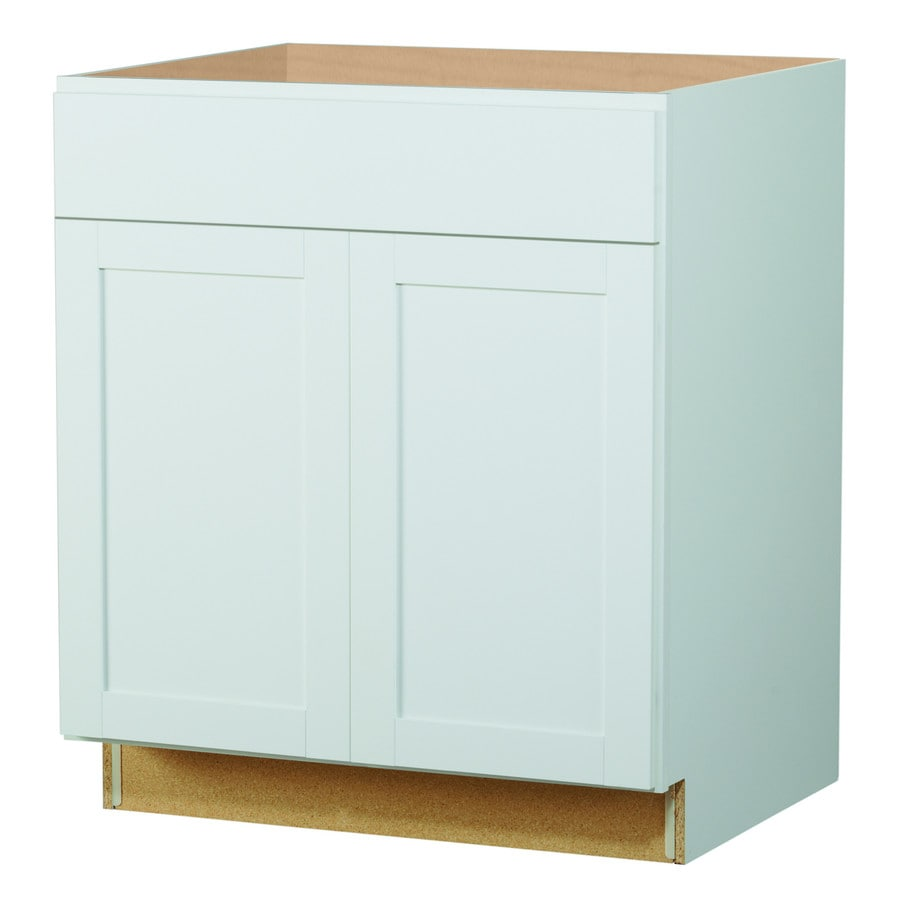 Shop kitchen classics arcadia 30 in w x 35 in h x for Kitchen white cabinets