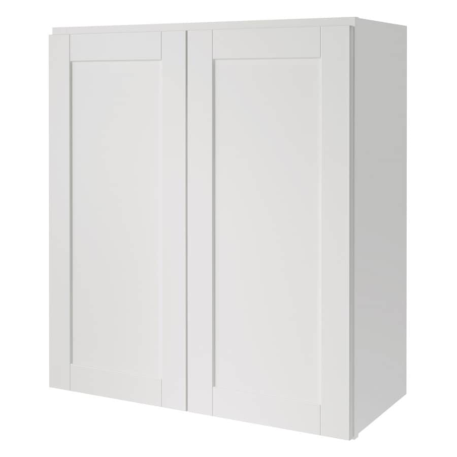 Shop kitchen classics arcadia 27 in w x 30 in h x 12 in d for Kitchen cabinets lowes with nova wall art