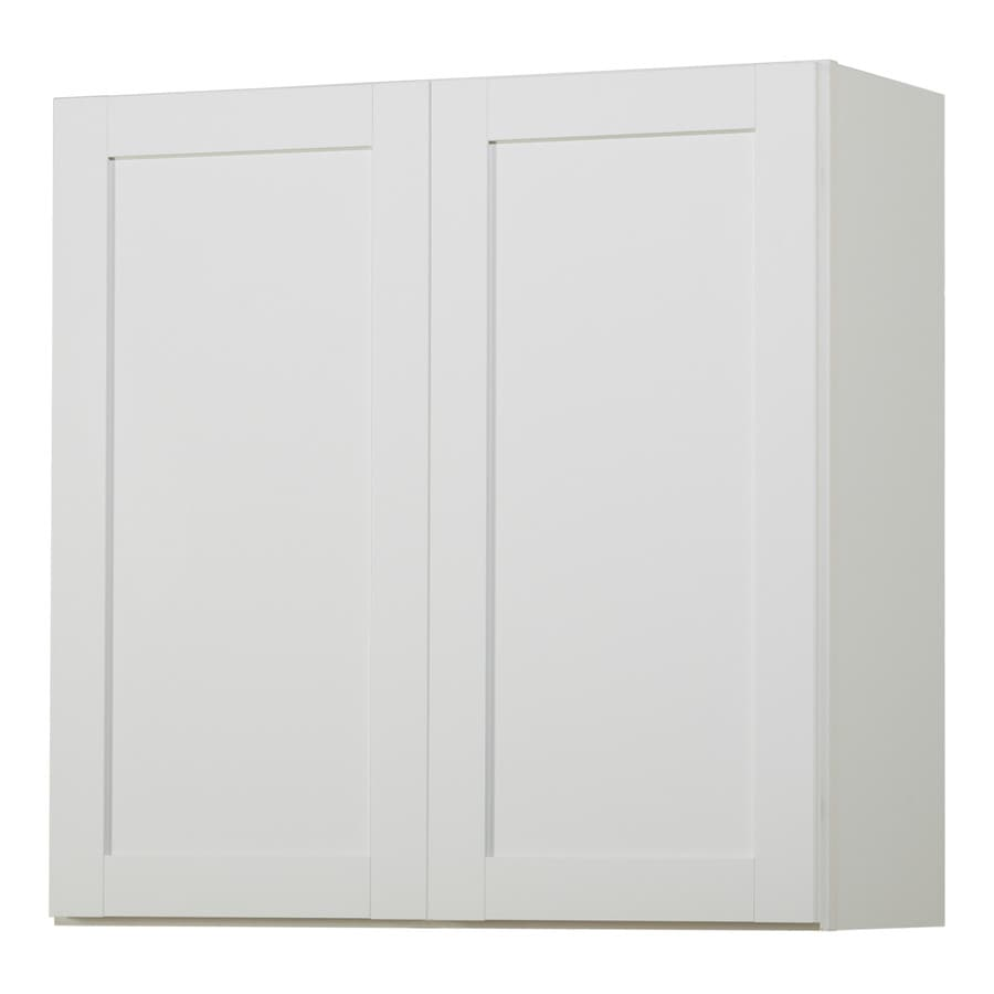 Kitchen Classics Arcadia 30-in W x 30-in H x 12-in D White Shaker Door Wall Cabinet