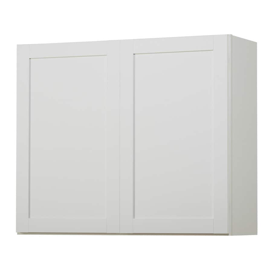 Shop kitchen classics arcadia 36 in w x 30 in h x 12 in d for Kitchen cabinets lowes with design own wall art