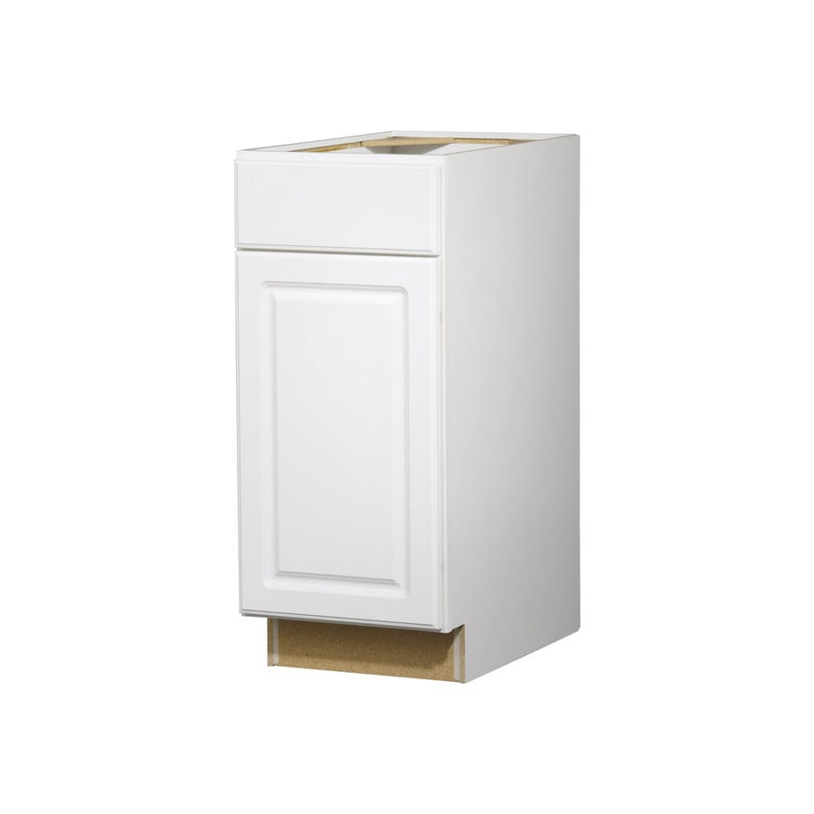 Kitchen Classics Concord 15-in W x 35-in H x 23.75-in D White Door and Drawer Base Cabinet