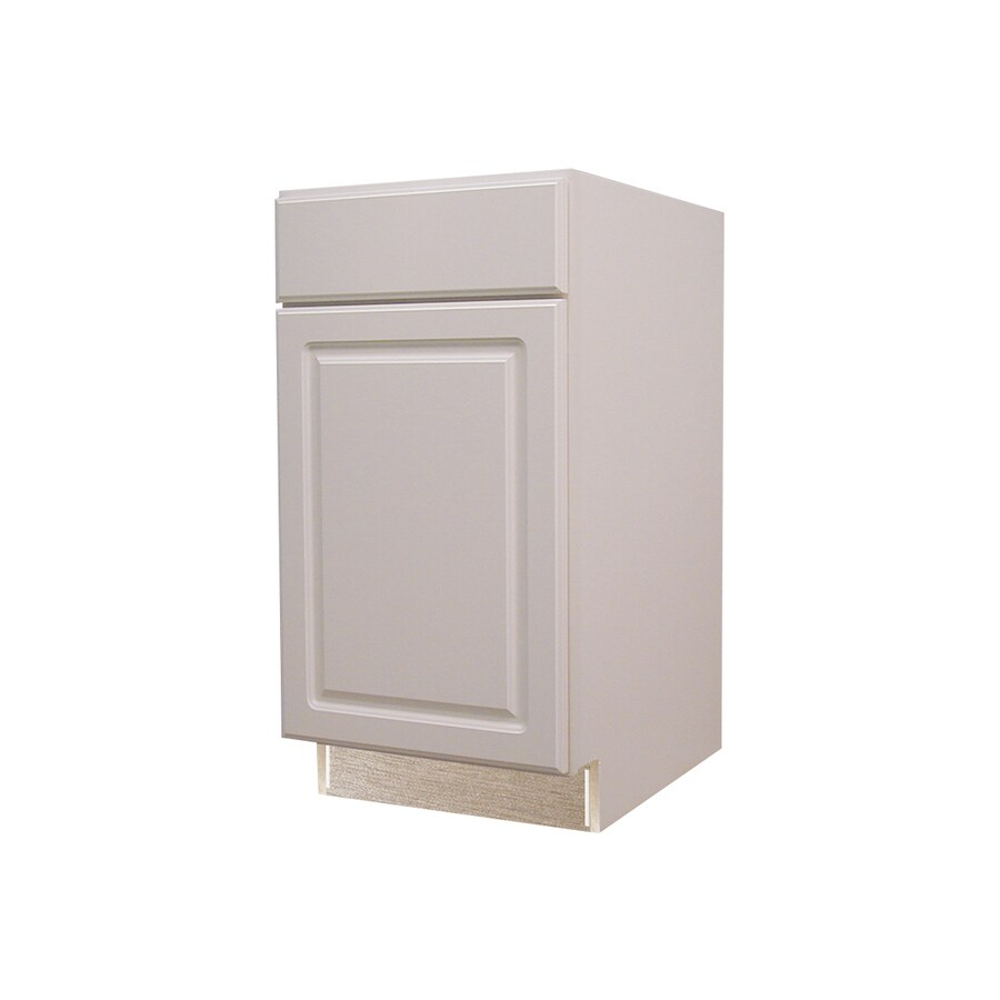 Kitchen Classics Concord 18-in W x 35-in H x 23.75-in D White Door and Drawer Base Cabinet