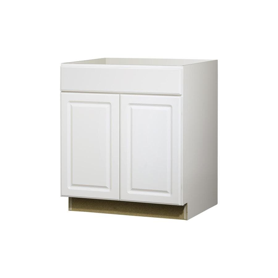 Kitchen Classics Concord 30-in W x 35-in H x 23.75-in D White Door and Drawer Base Cabinet