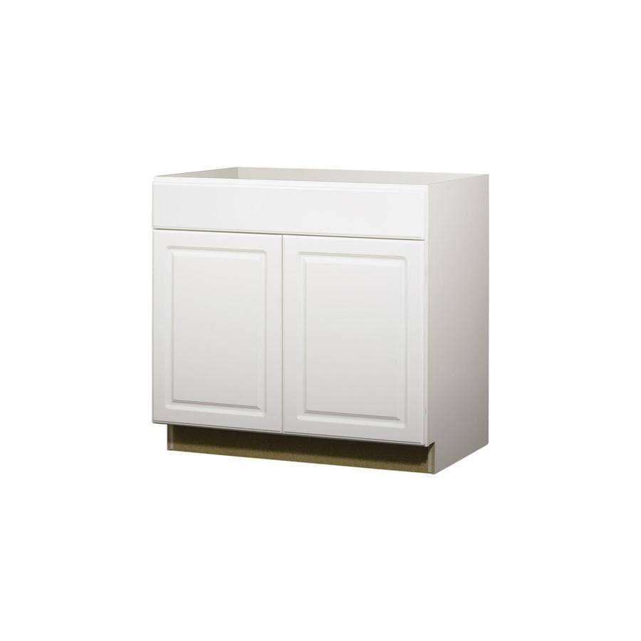 Kitchen Classics 35-in H x 36-in W x 24-in D Concord White Door and Drawer Base Cabinet