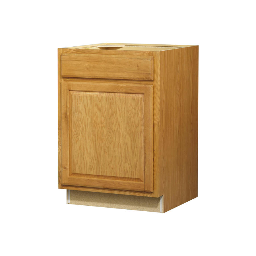Kitchen Classics Portland 24-in W x 35-in H x 23.75-in D Wheat Door and Drawer Base Cabinet