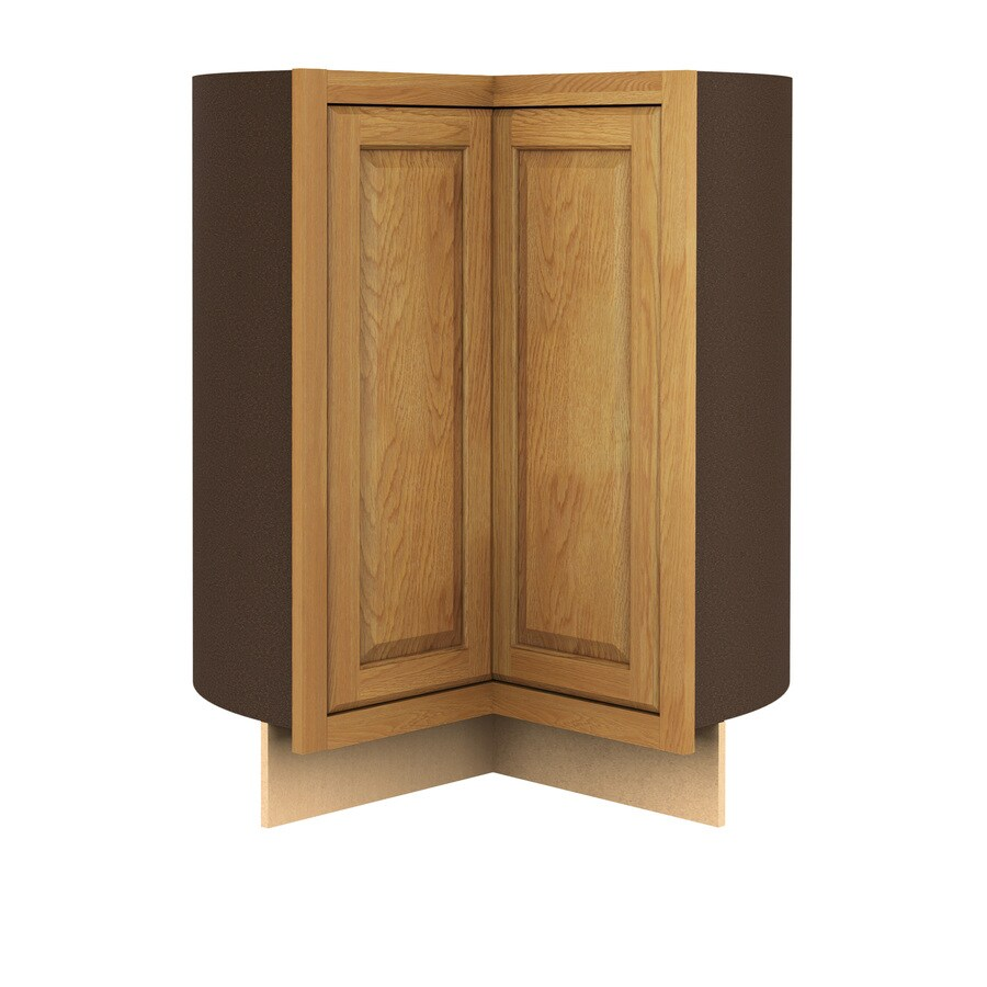 Kitchen Classics 35-in H x 36-in W x 24-in D Portland Oak Lazy Susan Base Cabinet