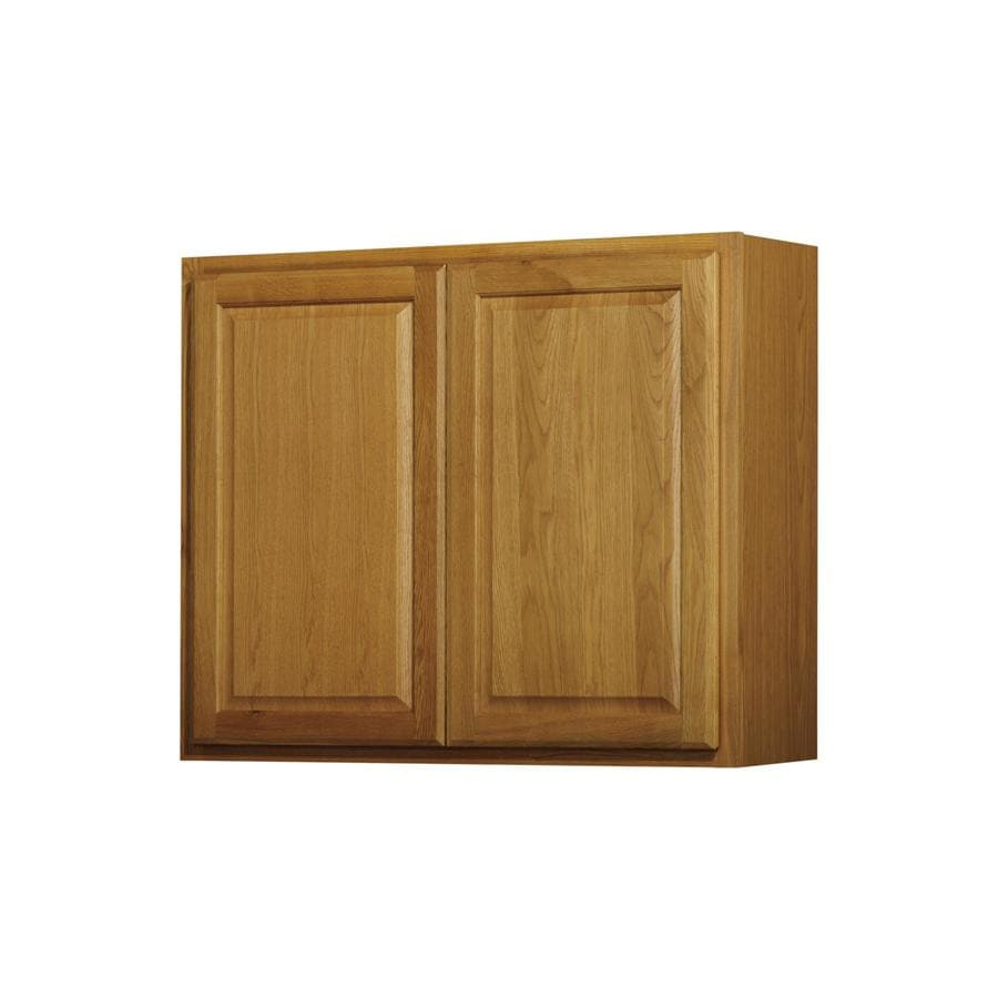 Kitchen Classics 30-in x 36-in x 12-in Portland Oak Double Door Kitchen Wall Cabinet