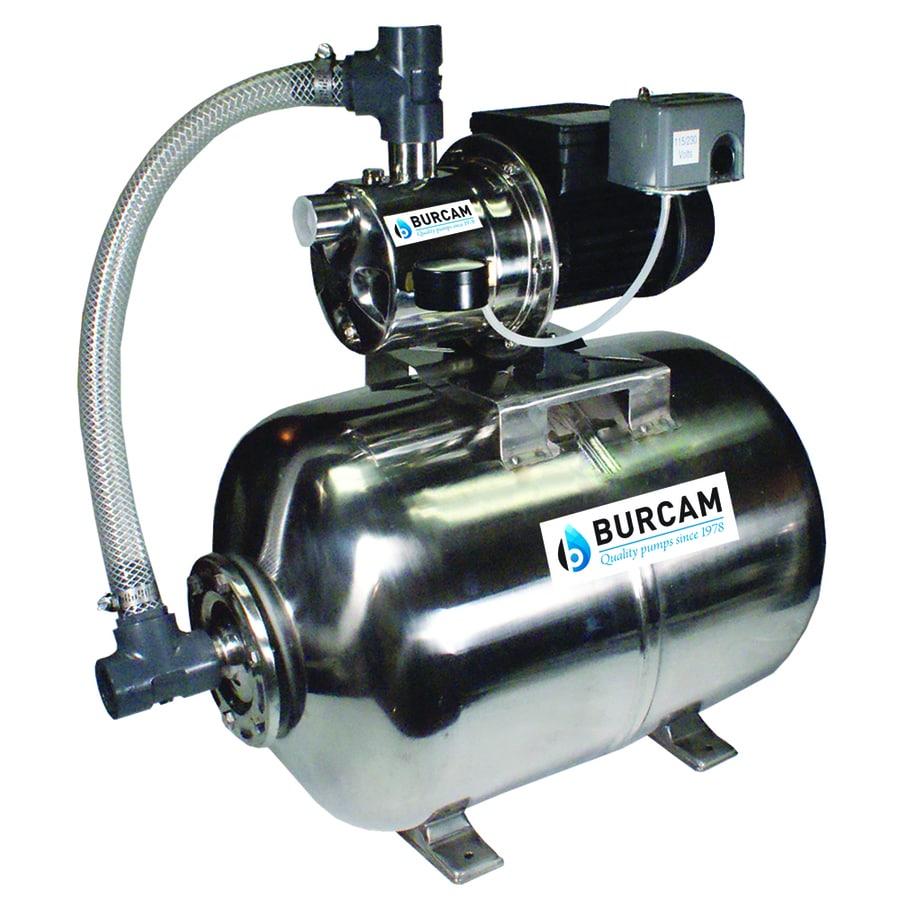 BUR-CAM 0.75-HP Stainless Steel Shallow Well Jet Pump