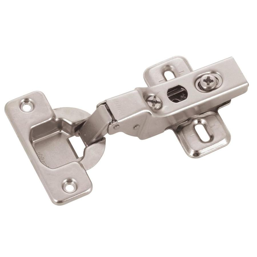 Shop blum 2 pack 5 in x brushed nickel concealed for Brushed nickel hinges for kitchen cabinets