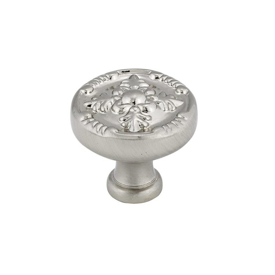 Richelieu Knob Metal 32mm dia. (8/32) Brushed Nickel