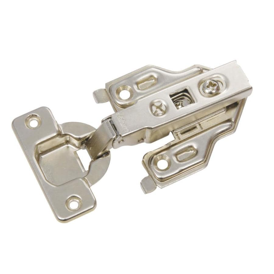 Blum 2-Pack 4.5-in x 2.25-in Brushed Nickel Concealed Self-Closing Cabinet Hinges