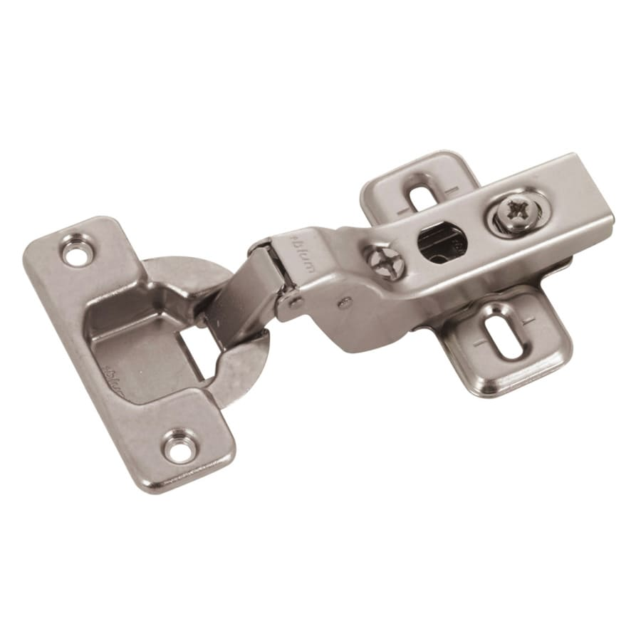 shop blum 2 pack 4 5 in x 2 25 in nickel plated concealed self closing cabinet hinges at lowes