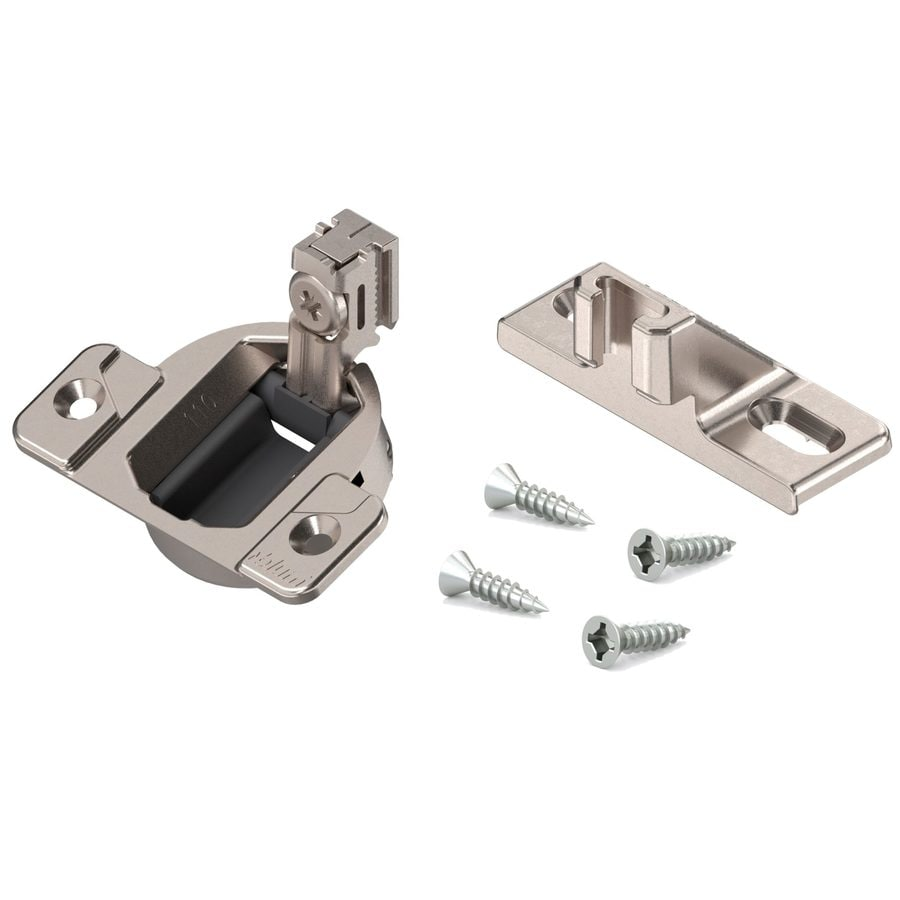 Blum 1-1/2-in x 1-1/2-in Satin Nickel Cabinet Hinge