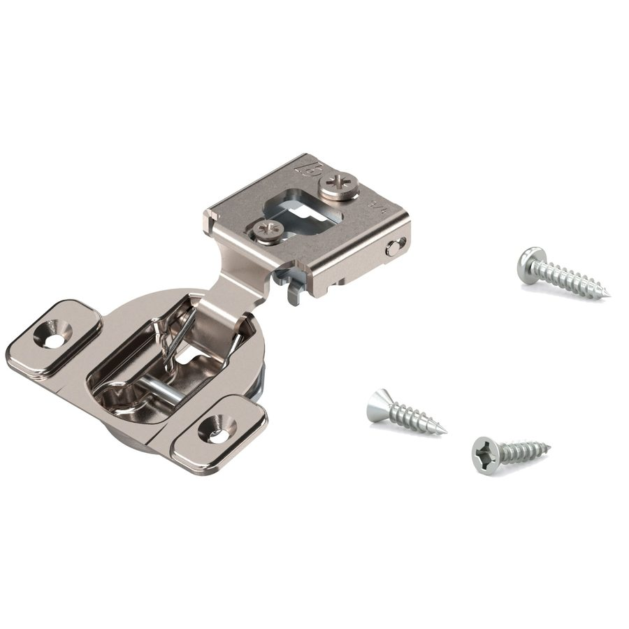 Blum 1-1/2-in x 1-1/2-in Satin Nickel Cabinet Hinge