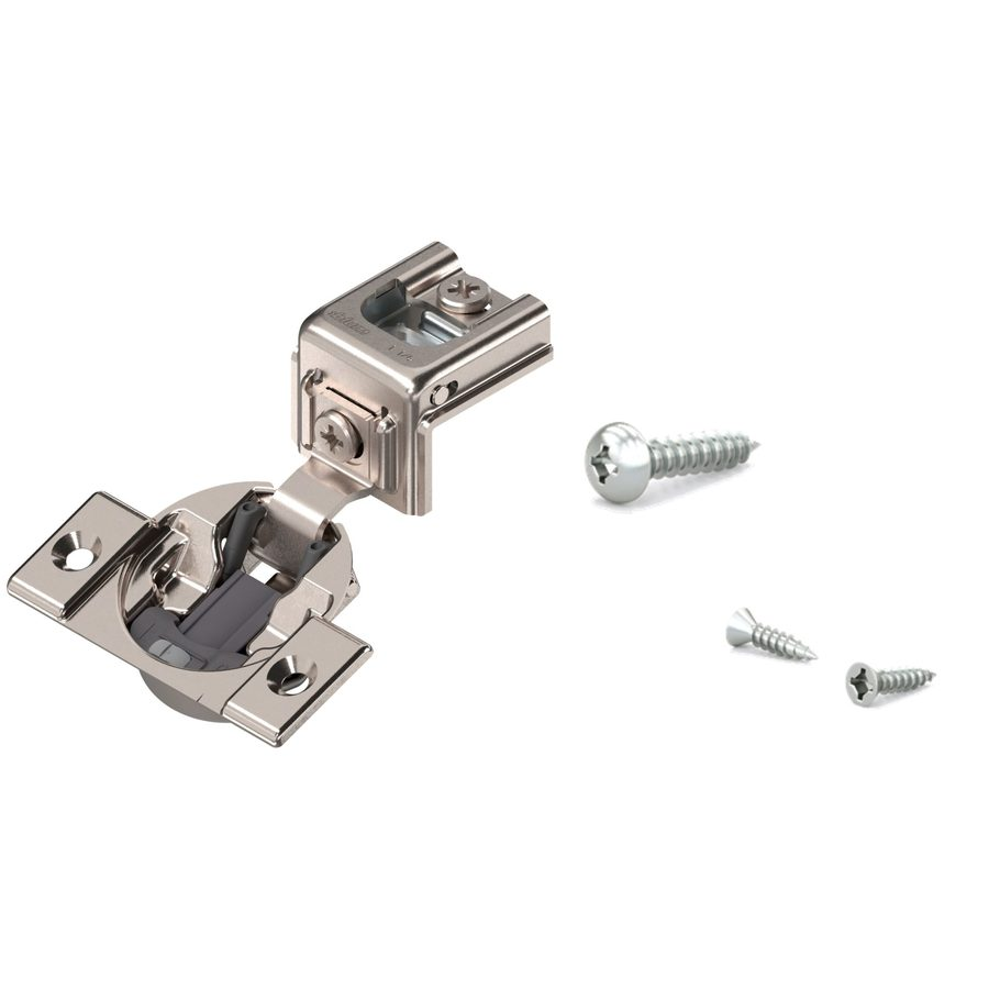 Richelieu 3-7/16-in x 1-1/4-in Gray Concealed Soft-Close Cabinet Hinge