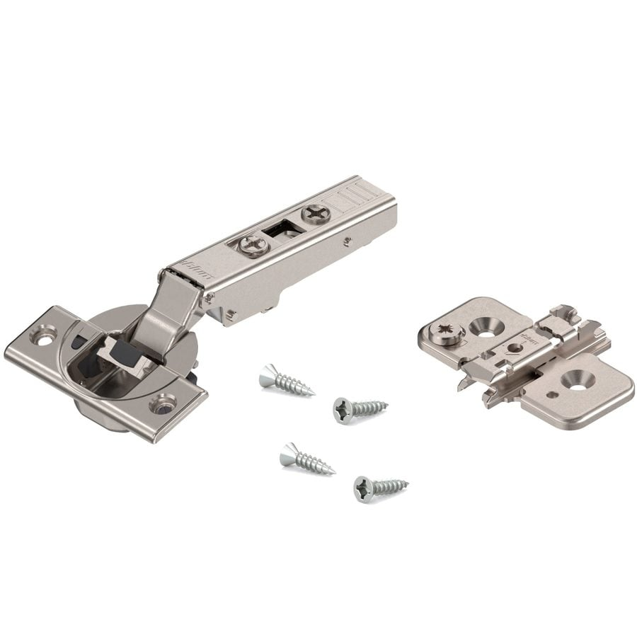 Richelieu 4-1/2-in x 2-1/2-in Gray Concealed Soft-Close Cabinet Hinge