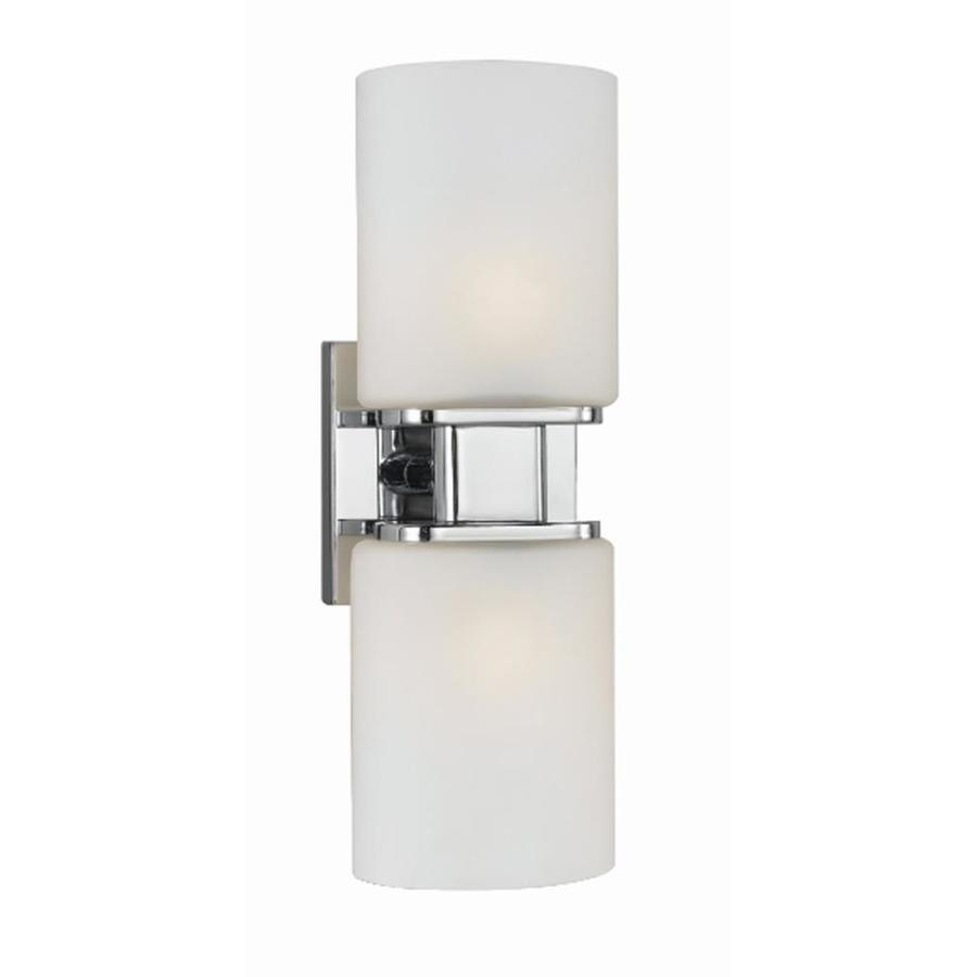 Style Selections Dolante 2-Light Chrome Cylinder Vanity Light