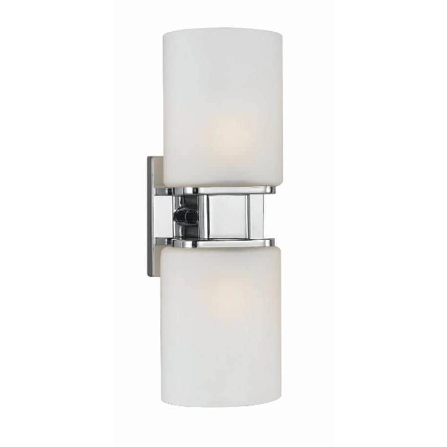 Shop Style Selections Dolante 2 Light Chrome Cylinder Vanity Light At