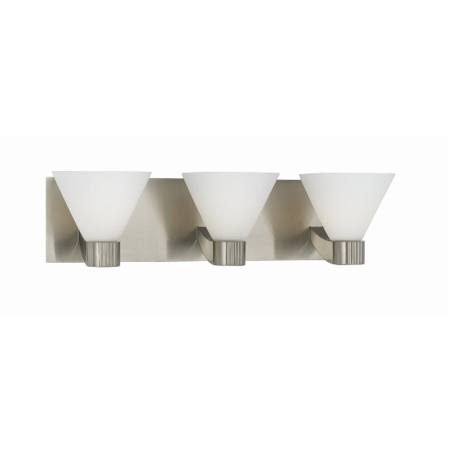 Bathroom lighting brushed nickel