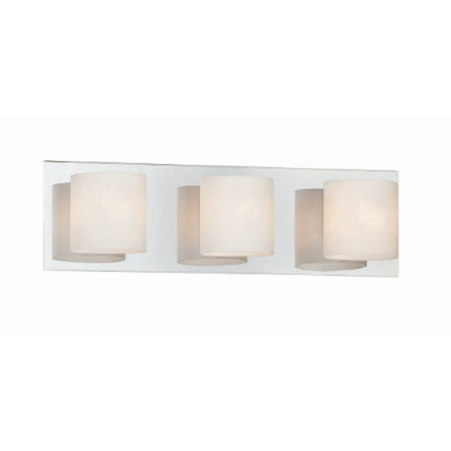 Style Selections 3-Light Geos Chrome Bathroom Vanity Light