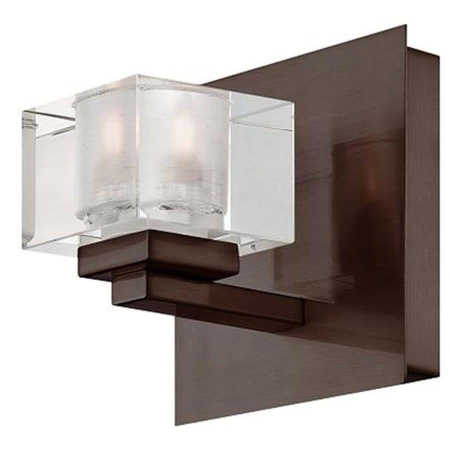 Portfolio 5-in W 1-Light Bronze Pocket Hardwired Wall Sconce