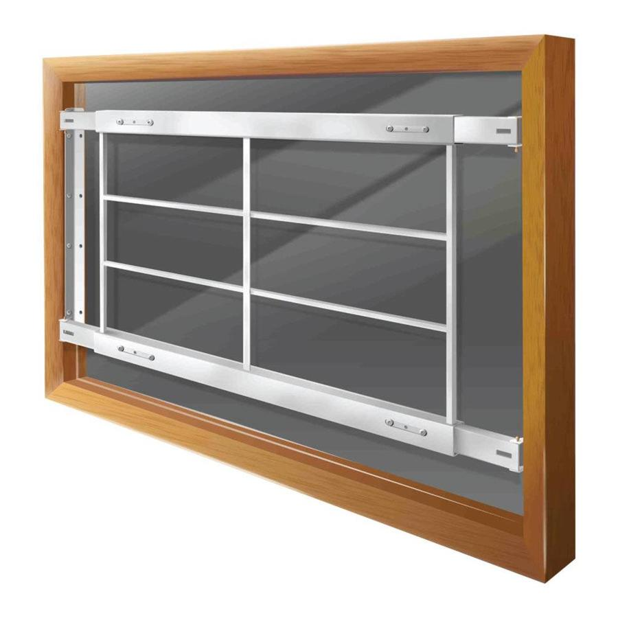 Mr. Goodbar D 54-in White Fixed Window Security Bar