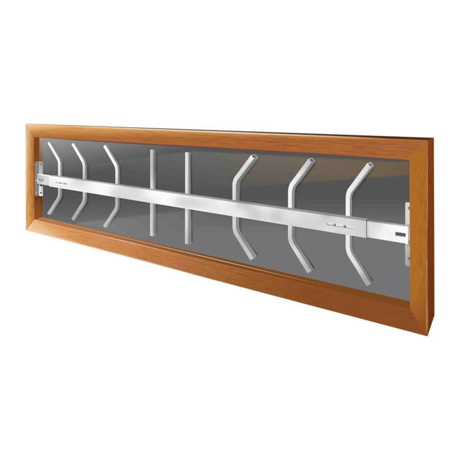 Mr. Goodbar B 52-in x 12-in White Swing-Away Window Security Bar