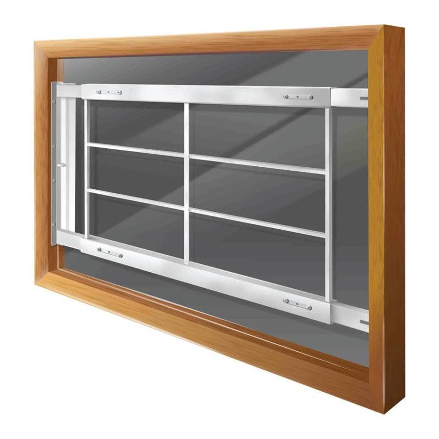 Mr. Goodbar D 64-in White Swing-Away Window Security Bar