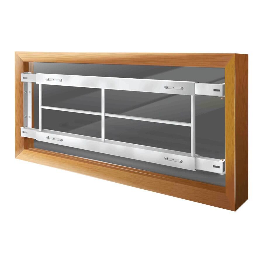 Mr. Goodbar C 74-in White Fixed Window Security Bar