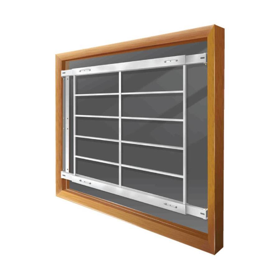 Mr. Goodbar E 54-in White Fixed Window Security Bar